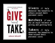 book cover saying Give and Take