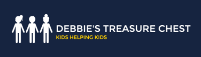 "Logo for Debbie's Treasure Chest ""Kids Helping Kids"""