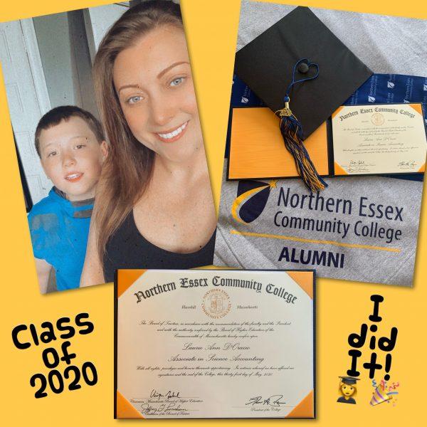 Laurie Orazio Associate in Science Accounting 2020 graduate