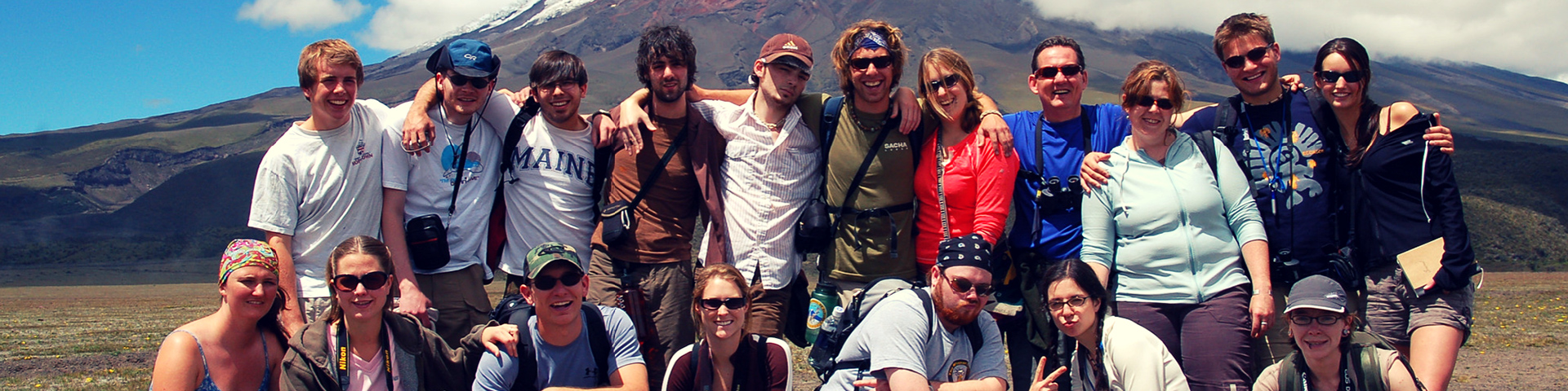 A group of NECC students pose in the mountains of Ecuador