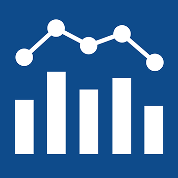 the Business and Accounting Center logo, a bar graph below a line graph
