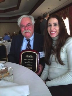 NECC alumnus Rod Doherty, editor of Foster's Daily Democrat, with Observer editor in chief Chantal McGovern.