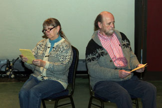 Susan Sanders and Jim Murphy star in NECC's Love Letters.