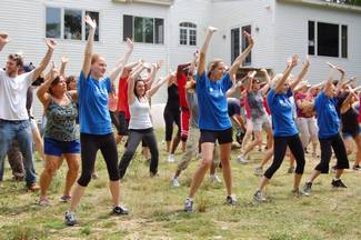 NECC Student Dancers lead an HGTV flash mob