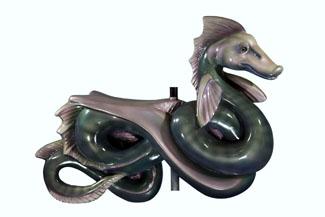 River Monster Carousel sculpture by Newburyport artist Jeffrey Briggs