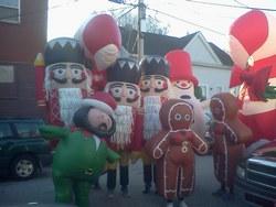 Three of NECC's student athletes were crowd favorites in Haverhill's Annual Santa Parade