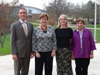 NECC President Lane Glenn, Linda Comeau, Clare Thompson-Ostrander, and Linda Hudson.