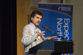 Global Studies Professor Richard Padova provided a brief history of Lawrence
