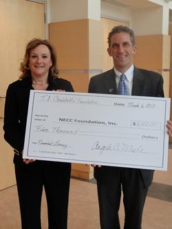 Angela Miele of TD Bank and NECC President Lane Glenn