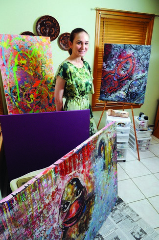 Plaistow Artist Paints Future at NECC