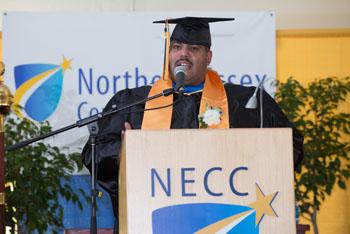 NECC Student Commencement speaker David DeJesus