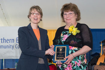 Dawne Young, chair of the NECC Alumni Association and 2013's Outstanding Alumni Susan Bonenfant