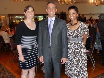 Isabelle Gagne, NECC President Lane Glenn, and Noemi Custodia-Lora