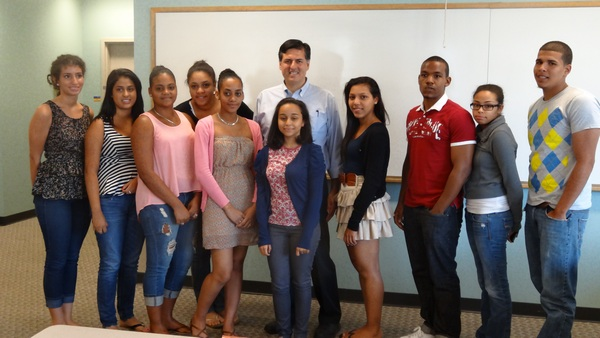 Students in NECC's Summer Bridge Program spent the day with Mexican American writer Sergio Troncoso.