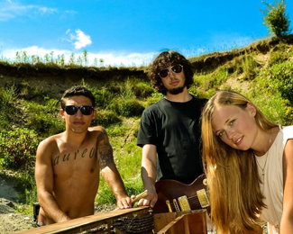 Liz Bill with her band Analog Heart
