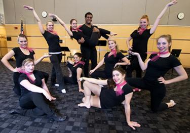 NECC dance students strike a pose.