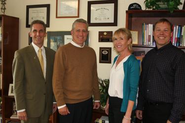 NECC President Lane Glenn, Shawn Patti, Sue Tashjian, and Kevin Mitchell