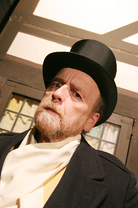 """Theatre professor Jim Murphy will once again take on the role of Scrooge during NECC's annual production of """"A Christmas Carol""""."""