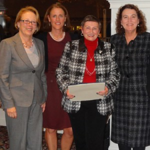 Congresswoman Niki Tsongas, last's SMART woman recipient Molly Sullivan Sliney, NECC vice president of institutional advancement, and Haverhill Cty Councilor and NECC Trustee Mary Ellen Daly O'Brien.