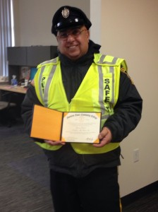 Eagle Security Guard Edward J. Gabriel picked up his diploma 42 years after graduating from Northern Essex Community College.