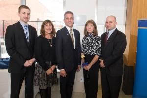 President lane Glenn and jim McNamara's family