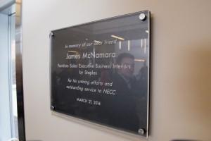 Staples employee recognition plaque