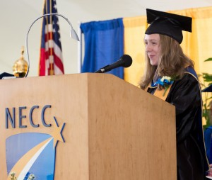 Early Childhood Education major Marie Phillips addressed the 2014 graduates.