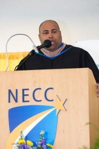 Lawrence Mayor Daniel Rivera was NECC's commencement speaker.
