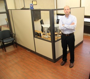 NECC Veterns Services coordinator Jeff Williams stands in the new Veterans Center upstairs in the One-Stop Center