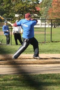 NECC baseball alumnus Joe Sousa participated in the last NECC Alumni Baseball game in 2010.