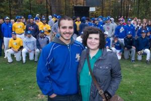 NECC alumnus and former Knights' baseball captain Manny Cabral donated bone marrow to Rebecca Dolan of Columbus, Ohio.