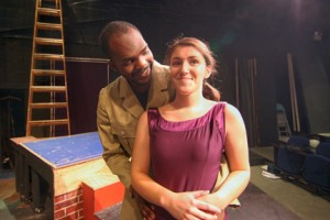 "Trevon Gilchrist of Haverhill and Katie Formosi of Groveland appear in ""Front"" at NECC."