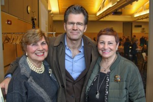 Women of NECC President Gerri Murphy, author Andre Dubus, and Jean Poth, vice president of NECC's Institutional Advancement.