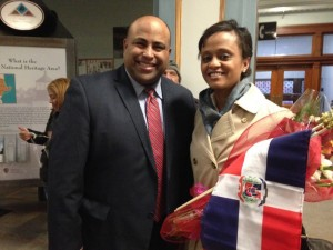Noemi and Mayor Rivera newsroom