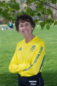 Linda Desjardins, retired NECC English professor, ran the Boston Marathon again this year and has already qualified for next year's Boston Marathon.