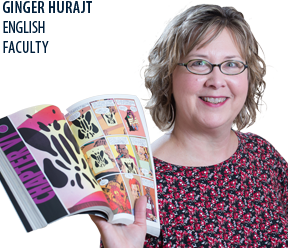 Honors Program coordinator ginger Hurjat shares her love for reading with her students.