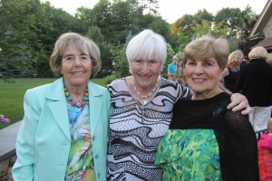 "Women of NECC Board members Bette Jaffe and Carole O""Connor of Andover and Gerri Murphy of North Andover attended the Women's annual June event held this year at the home of Linda and Larry McHugh of North Andover."