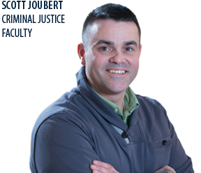 NECC Criminal Justice faculty member Scott Joubert.