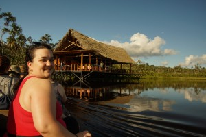 Tarah MacGregor arriving at Sacha Lodge in the Ecuadorian rainforest, for the first time.