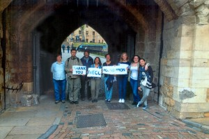 NECC students during the 2015 study abroad trip to England.