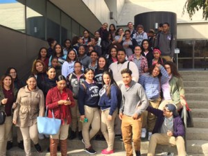 """More than 125 Lawrence High School students visited NECC during a """"College for a Day"""" experience."""