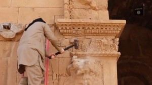 The destruction of Hatra - a UNESCO World Heritage site.