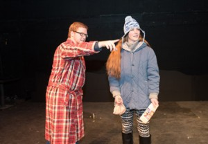 """Nate Joyall of Groveland and Annabel Dryden of Haverhill appear in Northern Essex Community College's production of the romantic comedy """"Almost, Maine"""" this weekend April 1 and 2 and next weekend April 8 and 9 at 7:30 p.m. on the Haverhill campus."""