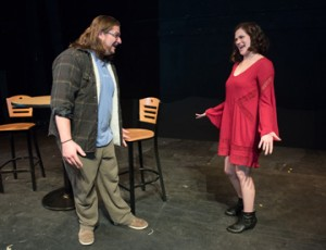 """Abigail Seabrook of Newburyport and Hunter Gouldthorpe of Salisbury appear in Northern Essex Community College's production of the romantic comedy """"Almost, Maine"""" this weekend April 1 and 2 and next weekend April 8 and 9 at 7:30 p.m. on the Haverhill campus."""