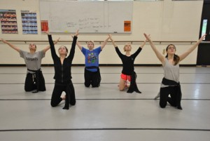 Northern Essex community College Stillpoint dancers will perform during the spring show April 22 and 23. Left to right (back row) Tiffany Melo of Derry, Megan McCullough of Londonderry, and Nina Cabral of Pelham. Front row (L to R) Zaida Buzan of Haverhill, Katie Formosi of Groveland, and Michelle Zukowski of Tewksbury.