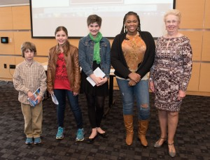 This year's Peace Poetry contest winners included (l to r) Finn Stinson of Amesbury, Alva Yankowitz of Andover, Madeline Lembo of Hampstead, NH, Amanda Toussaint of Methuen; and Judith Delano of Hampstead, NH.