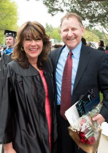 Respiratory Care graduate Laura Forman and husband Mark Forman, a member of the NECC Board of Trustees.