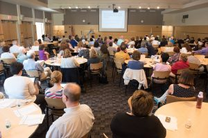 more than 200 faculty and staff form all 15 Massachusetts community colleges attended the kickoff of the OER statewide initiative.