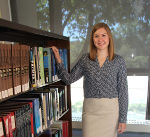 Chicago native Laura Mondt is NECC's new reference librarian.