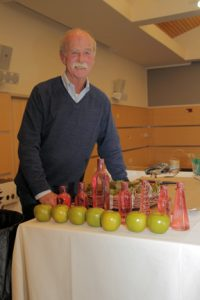 Bert ford of Ford Flowers donated his time and talents to the Women of NECC's annual tea.